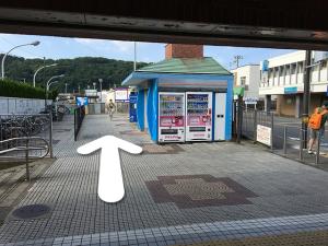京急新逗子南口改札を出ます。
